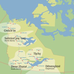 Dene Languages Map