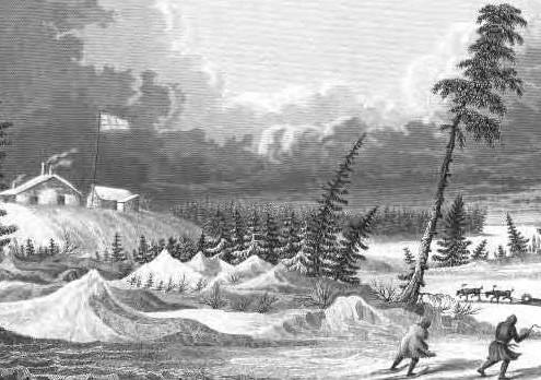 George Back à Fort Franklin, 1825