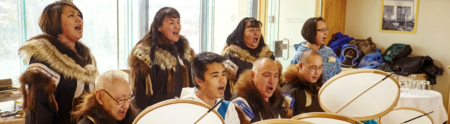Slide: Inuvialuit Drummers and Singers