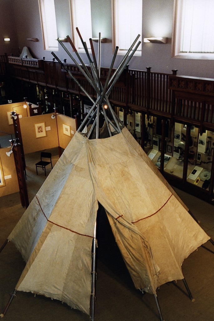 Tipi Display in Scotland (photo credit: Neil Curtis, Curator of Marischal Museum, Aberdeen, Scotland)