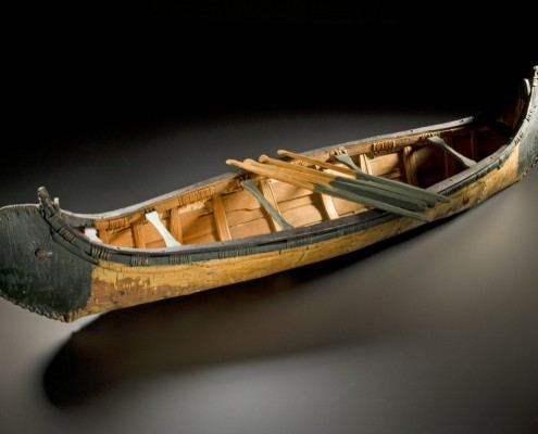 Model Canoe and Paddles