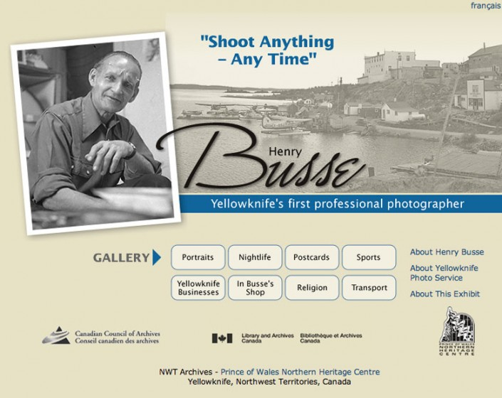 Henry Busse: Yellowknife's First Professional Photographer