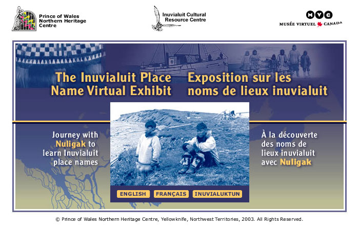Inuvialuit Place Name Virtual Exhibit