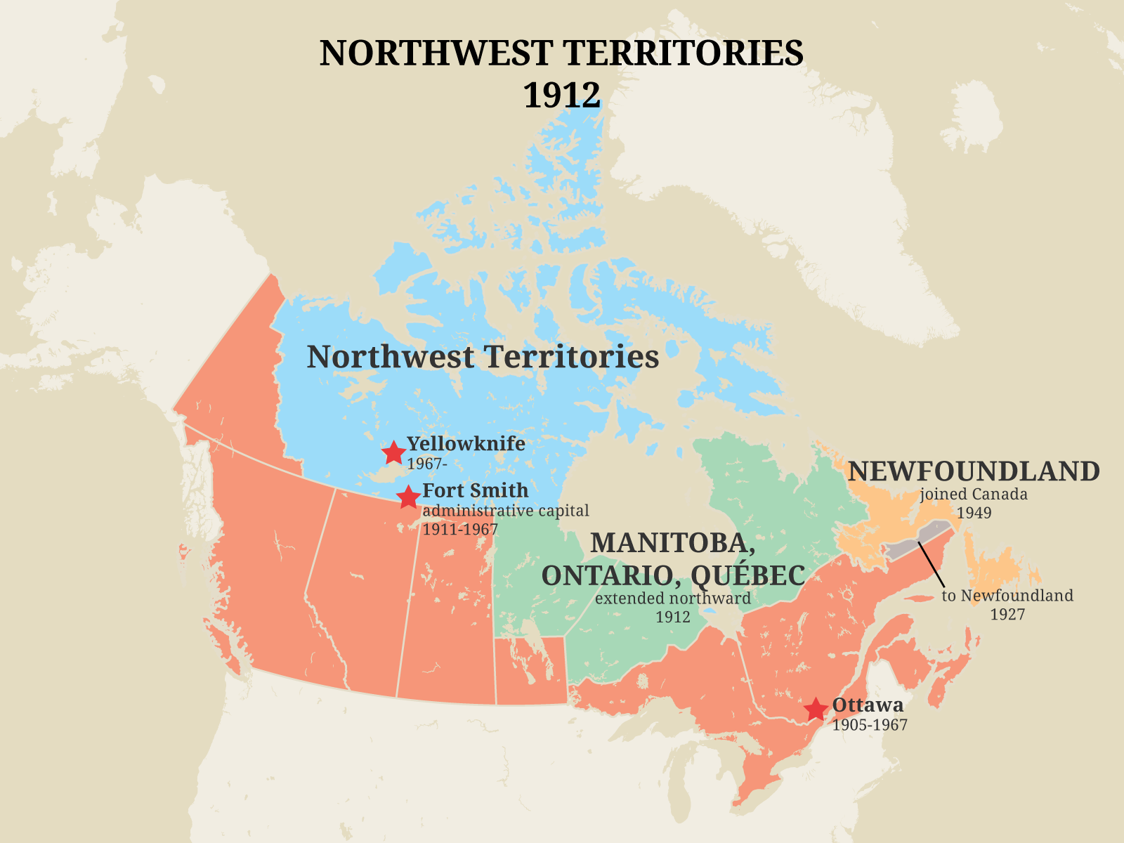 Territorial Evolution Of The Northwest Territories Pwnhc Cpspg