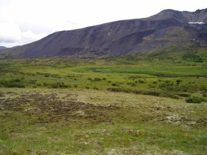 View southeast of area of proposed tailings pond in the NWT.