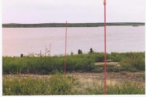 Markers used at KjPa-1 near Lockhart Lake Camp