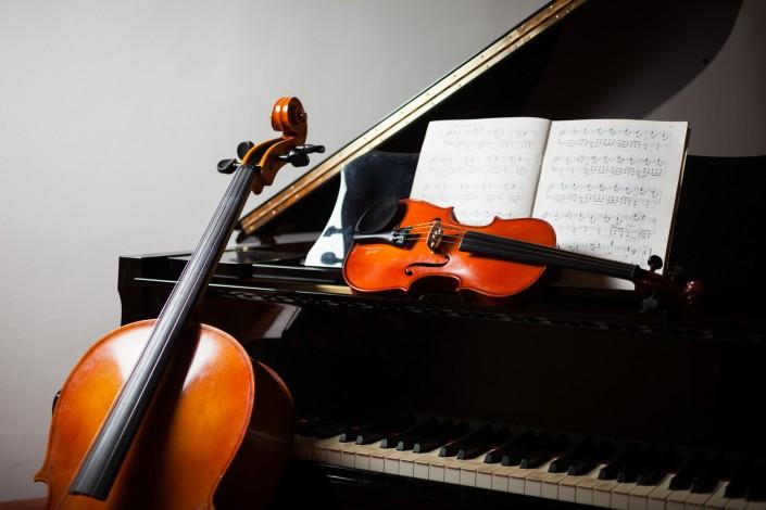 Cello, Violin, Piano